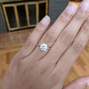 Jewelry - 1.6 ct Ice Blue White Moissanite Engagement Ring
